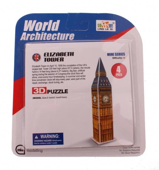Jonotoys 3D Puzzel Elizabeth Tower klein 6 delig bron