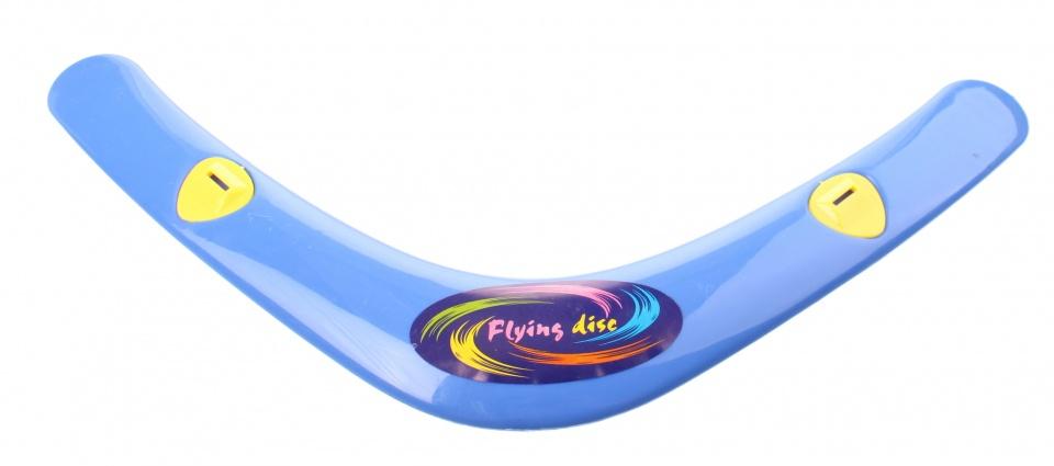 Jonotoys Flying Disc boomerang met fluit 38 cm blauw