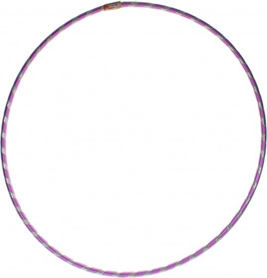 Jonotoys hoelahoep glitters met kralen paars 66 cm kopen