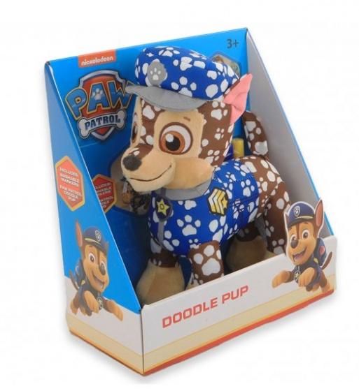 Jonotoys knuffel paw patrol Chase junior 23 cm pluche blauw