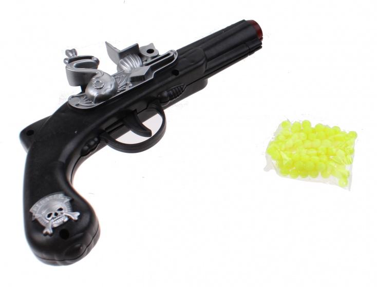 Jonotoys piratenpistool met schietballetjes zwart