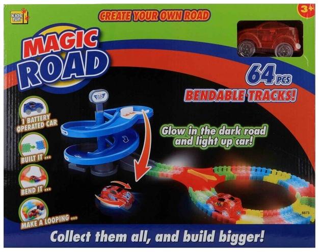 Jonotoys racebaan Magic Road 64 delig rood