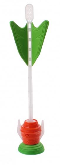 Jonotoys raket met zuignap en lichteffect 21 cm groen