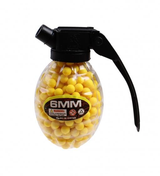 Jonotoys schietballetjes 6 mm in granaat geel