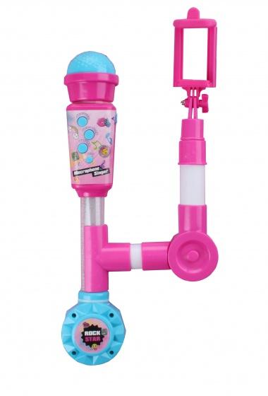 Jonotoys Selfie microfoon roze 33 cm