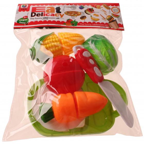 Jonotoys speelgoed groenten Eat Delicacy 10 delig