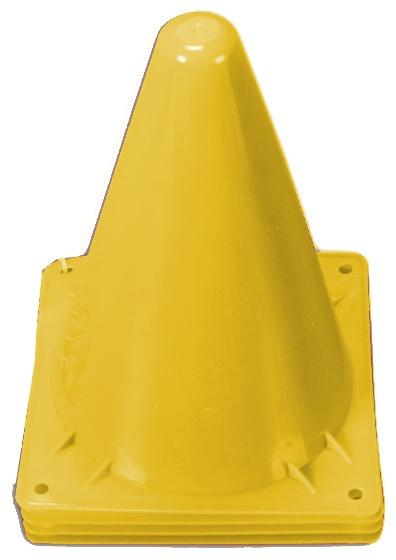 Jonotoys speelgoed pionnen 4 delig geel 13 cm