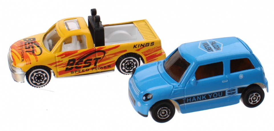 Jonotoys speelset City Sports Car jongens blauw/geel 11 delig