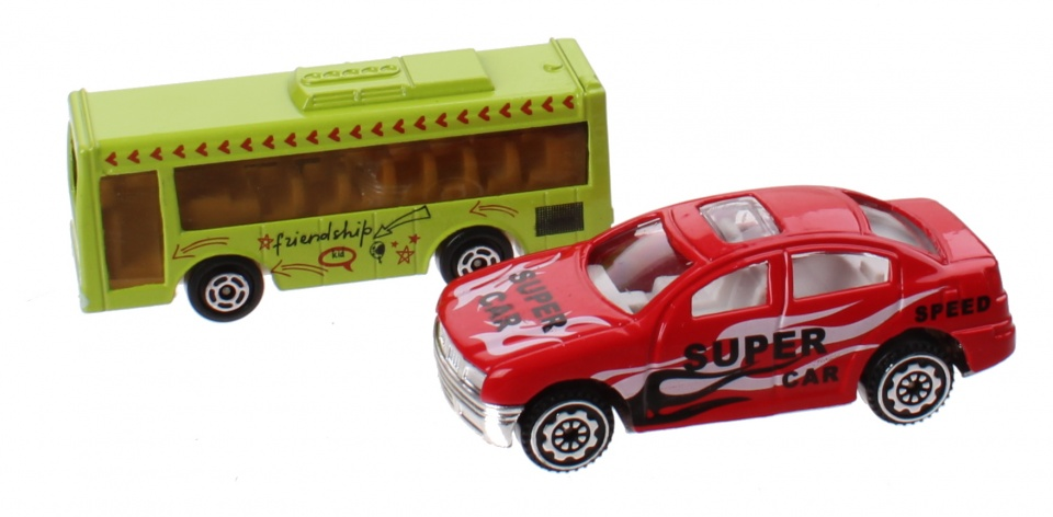 Jonotoys speelset City Sports Car jongens groen/rood 11 delig