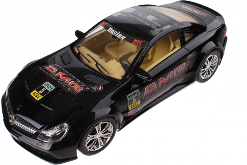 Jonotoys sportauto 25 cm zwart