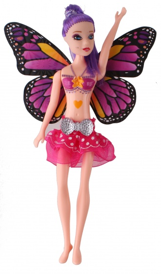 Jonotoys teenage doll with wings Fairy Princess20 cm purple