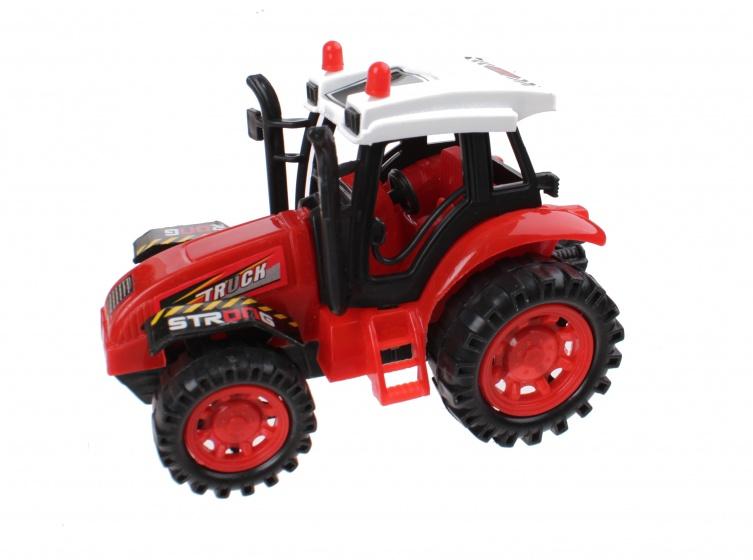 Jonotoys tractor 13 cm rood