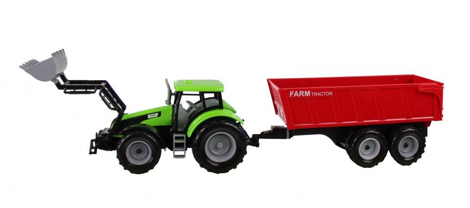 Jonotoys tractor met kiepkar 48 cm groen