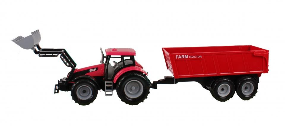 Jonotoys tractor met kiepkar 48 cm rood