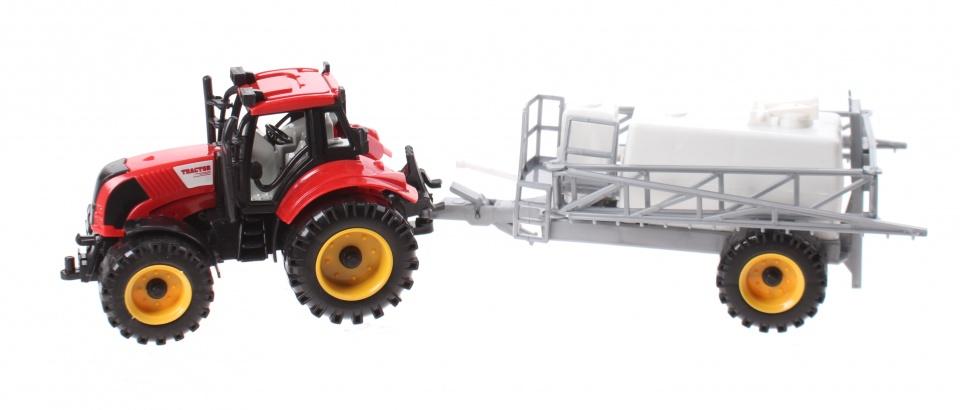Jonotoys tractor met sproeier 29 cm rood