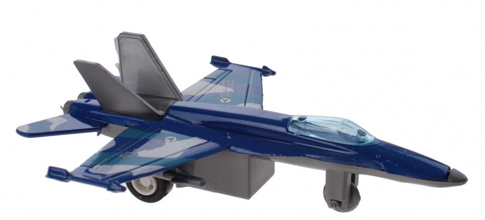 Jonotoys Vliegtuig ED A6 10 cm blauw