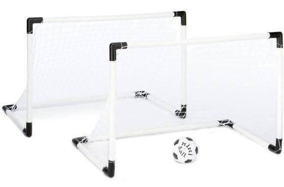 Jonotoys voetbaldoelen met bal en pomp 61 cm wit 4 delig
