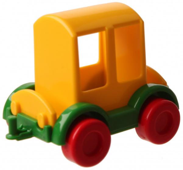 Jonotoys wagon 8 cm geel kopen