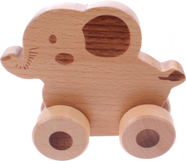 Jou co houten olifant op wielen internet toys - Houten doos op wielen ...