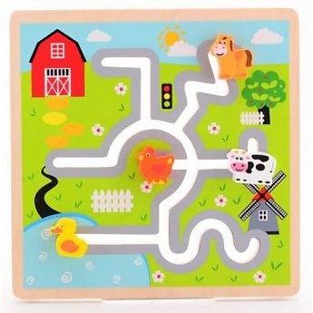 Joueco labyrinthpuzzle boerderij