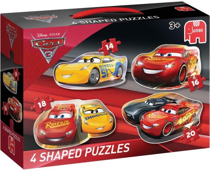 Jumbo Cars vormenpuzzel 4 puzzels 14 tot 20 stukjes