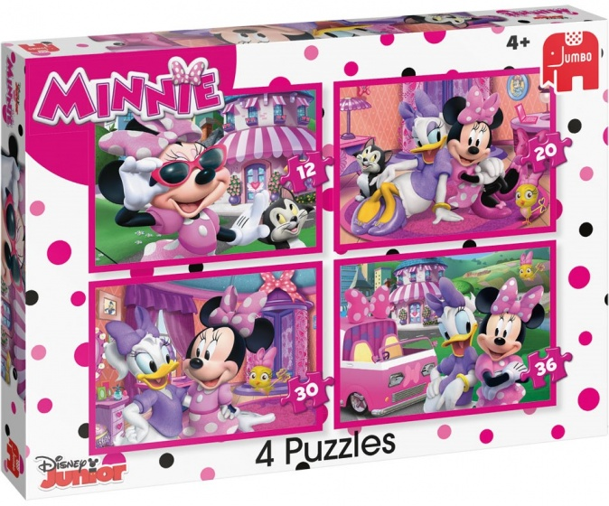 Jumbo Disney Minnie Mouse 4 puzzels 12 tot 36 stukjes