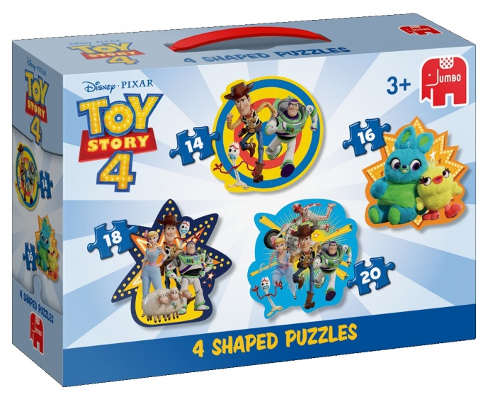 Jumbo Disney Toy Story 4 puzzel 4 in 1 14/16/18/20 stukjes