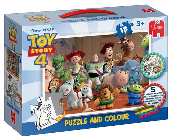 Jumbo Disney Toy Story puzzel en kleur 18 stukjes