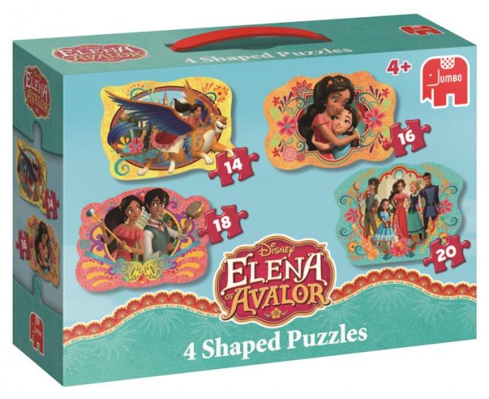 Jumbo Elena van Avalor 4 puzzels 14 tot 20 stukjes