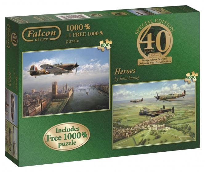 Jumbo Falcon 40th Anniversary Heroes 2 puzzels 1000 stukjes