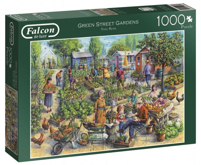 Jumbo Falcon Green Street Gardens legpuzzel 1000 stukjes