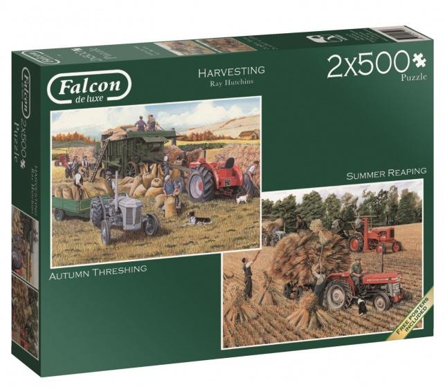 Jumbo Falcon Harvesting 2 puzzels 500 stukjes