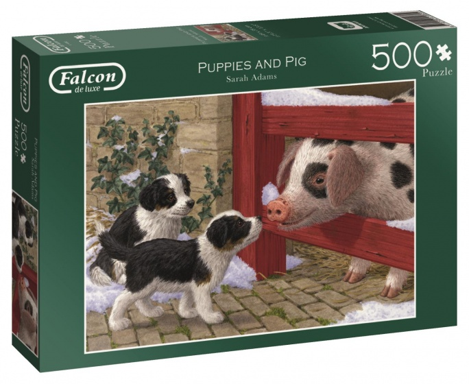 Jumbo Falcon Puppies and Pig legpuzzel 500 stukjes