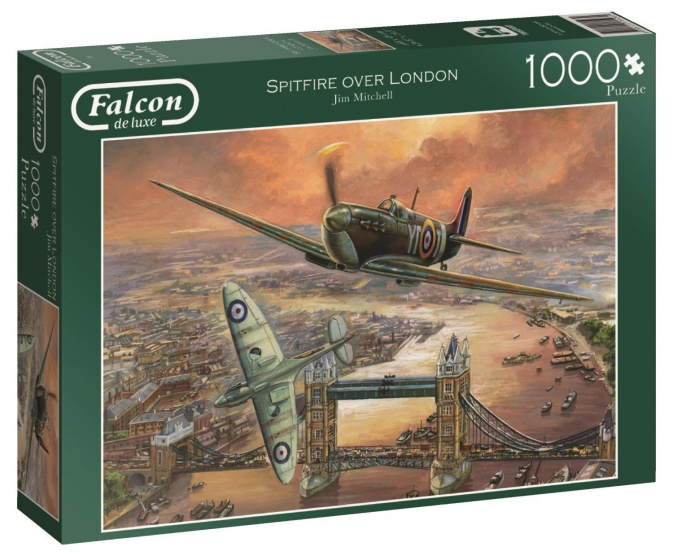 Jumbo Falcon Spitfire over London legpuzzel 1000 stukjes