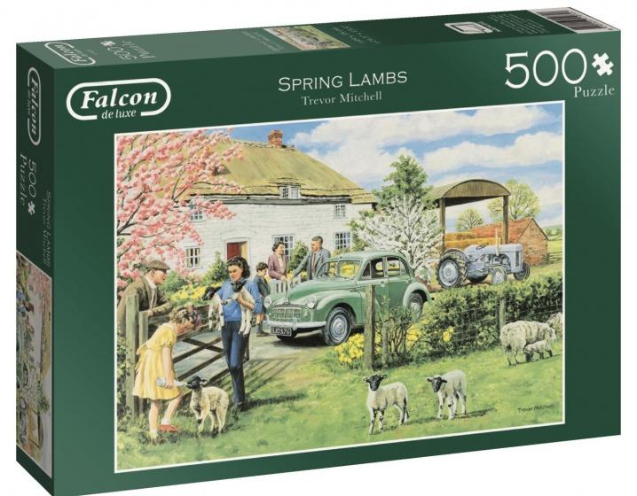 Jumbo Falcon Spring Lambs legpuzzel 500 stukjes