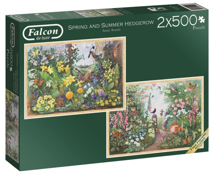 Jumbo Falcon Spring & Summer Hedgerow 2 puzzels 500 stukjes