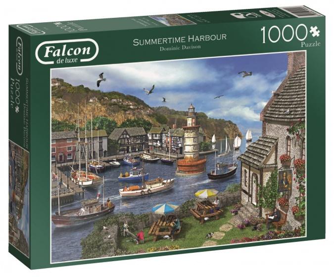 Jumbo Falcon Summertime Harbour legpuzzel 1000 stukjes