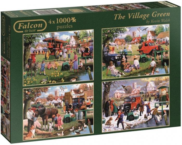 Jumbo Falcon The Village Green 4 puzzels 1000 stukjes