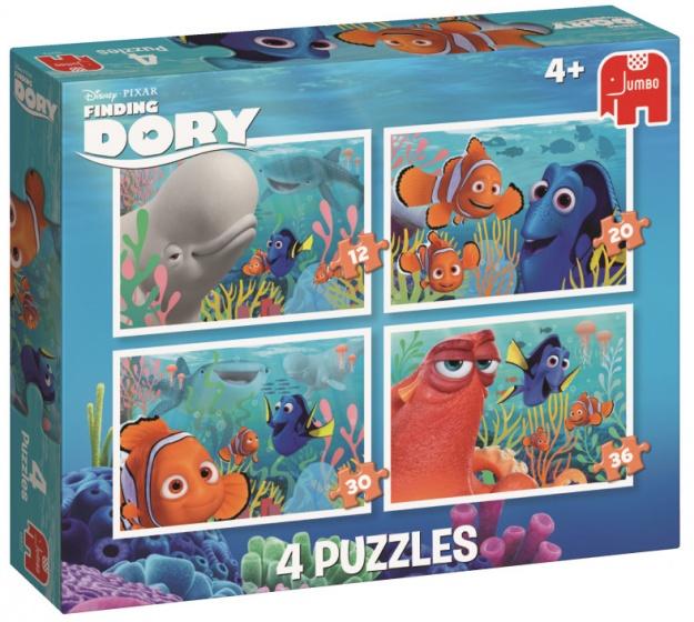 Jumbo Finding Dory legpuzzel 4 puzzels 12 tot 36 stukjes