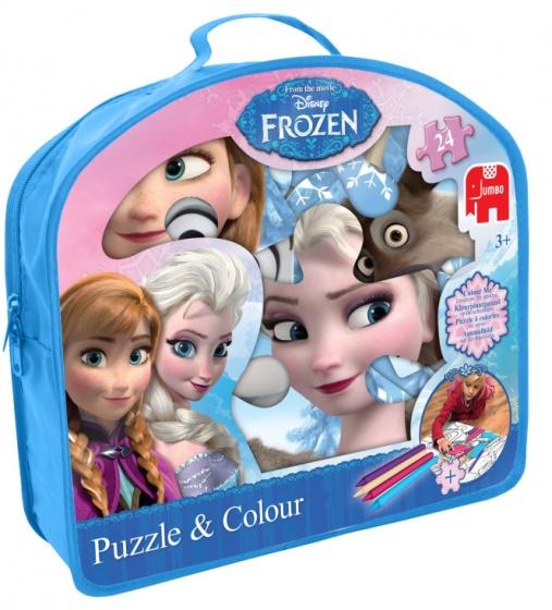 Disney Frozen Puzzel & Kleurplaat in Tas