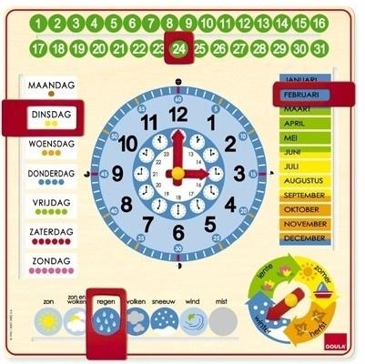 Jumbo Houten Klok Kalender