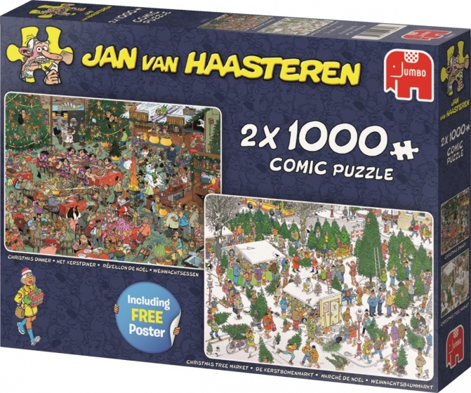 Jan van Haasteren 2-in-1 puzzel 2000 stukjes