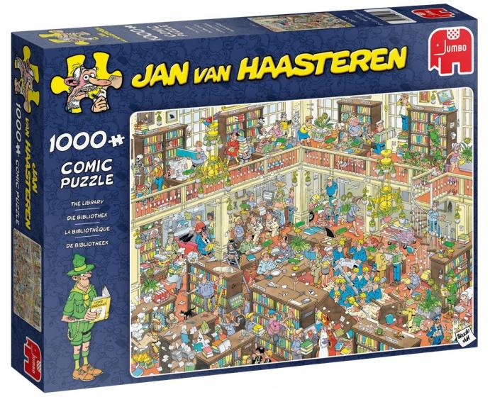 Jan van Haasteren De bibliotheek puzzel
