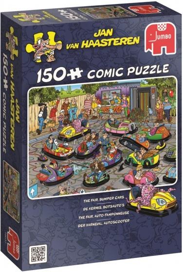 Jumbo JvH de Kermis Botsauto's legpuzzel 150 stukjes