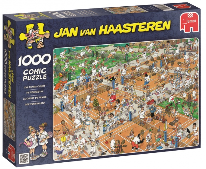 Jumbo Jan van Haasteren De Tennisbaan legpuzzel 1000 stukjes