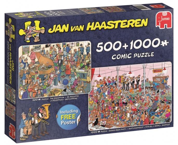 Jumbo Jan van Haasteren Feestje! 2 puzzels 500 & 1000 stukjes