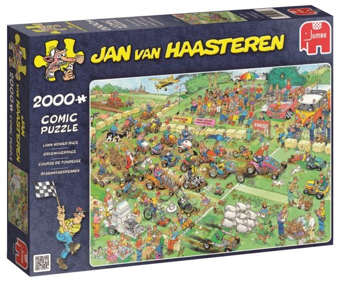 Jumbo Jan van Haasteren Grasmaaierrace legpuzzel 2000 stukjes