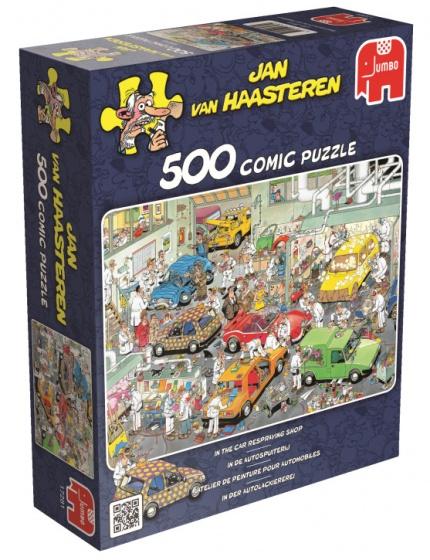 Jumbo Jan van Haasteren In de Autospuiterij legpuzzel 500 stukjes