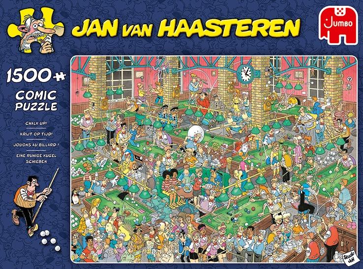 Jumbo Jan van Haasteren legpuzzel 'Krijt op tijd' 1500 stukjes kopen