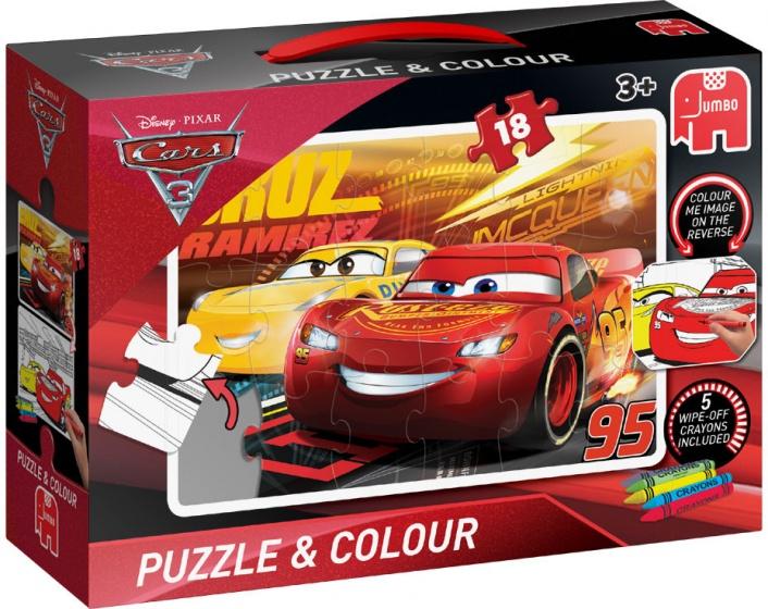 Jumbo kleurplaatpuzzel Disney Cars 23 delig